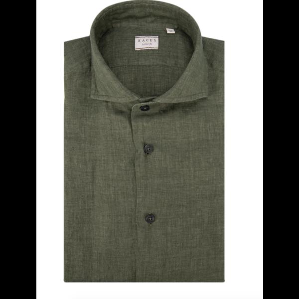 linnen shirt groen