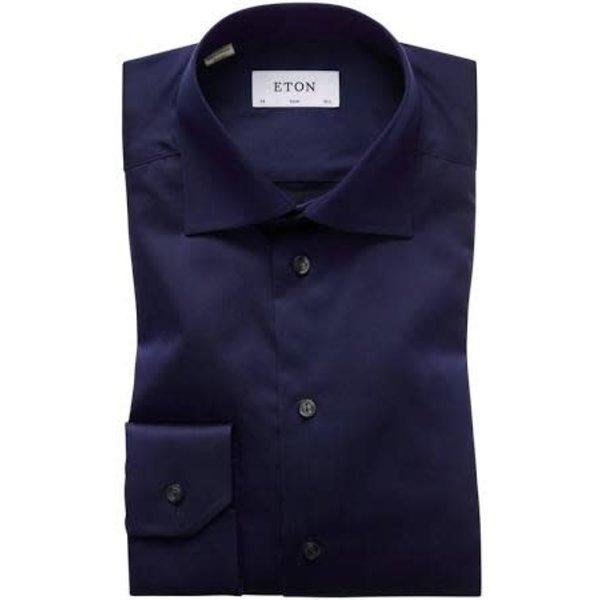 dress-shirt d. blauw slimfit