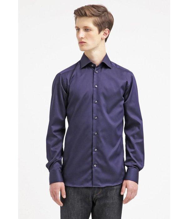 Eton dress-shirt d. blauw slimfit