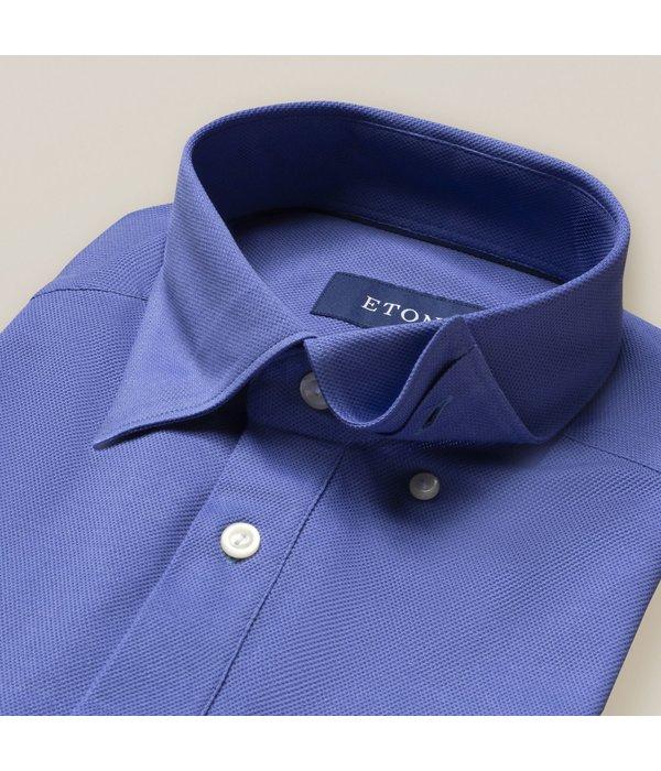 Eton tricot polo-shirt kobalt slimfit