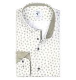 R2 print dress-shirt, groen