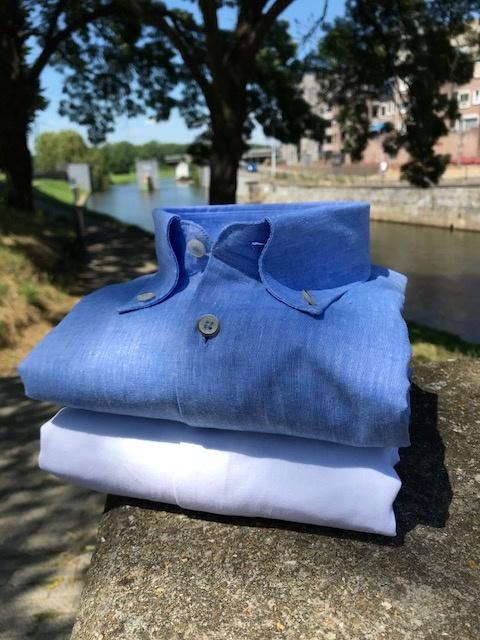 Zomerse linnen- shirts van John Miller