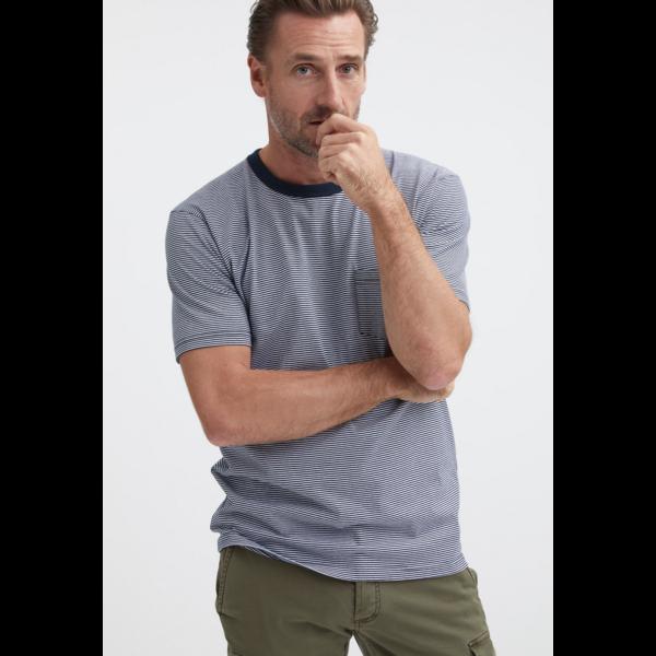 t-shirt streep blauw