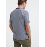 Denham t-shirt streep blauw