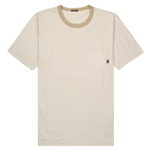 t-shirt streep bruin