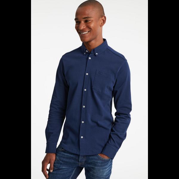tricot shirt d. blauw
