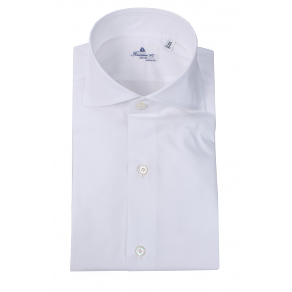 luxe dress-shirt, wit & l. blauw