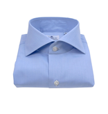 Finamore luxe dress-shirt, wit & l. blauw