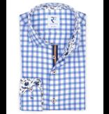 R2 dress-shirt blauw ruit