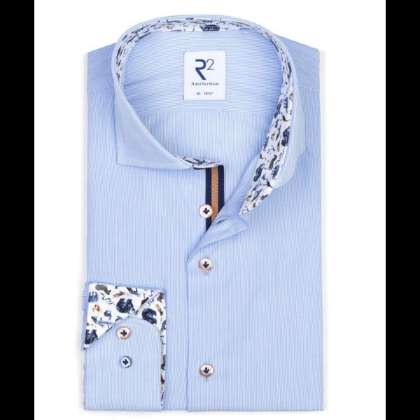 dress-shirt l. blauw streep print