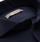 John Miller dress-shirt stretch d. blauw sf