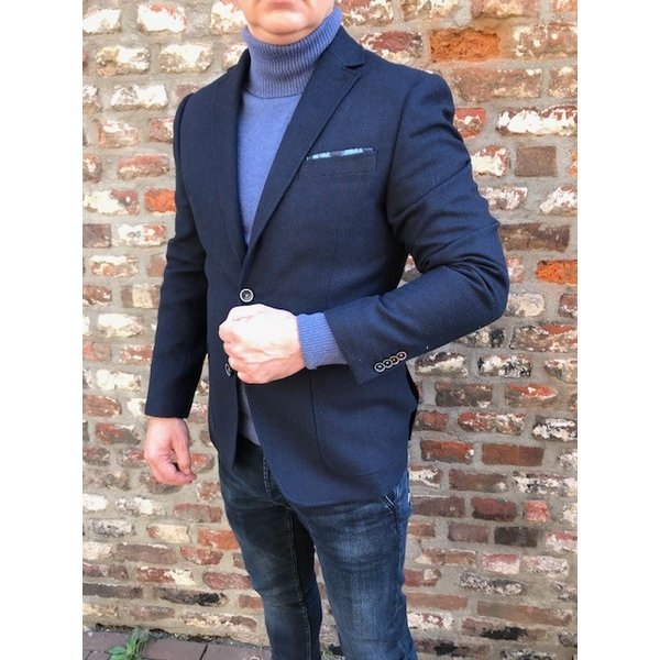 colbert visgraat d. blauw