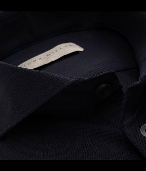 John Miller dress-shirt stretch zwart sf
