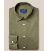 Eton tricot dress-shirt groen