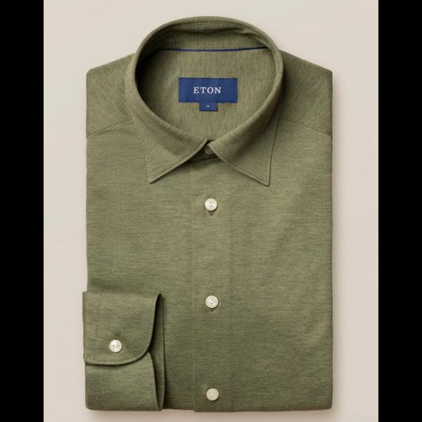 tricot dress-shirt groen