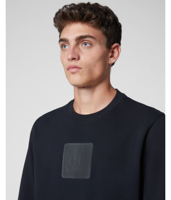 CP Company logo sweater zwart