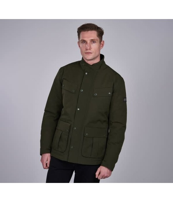 Barbour International jack groen soft shell