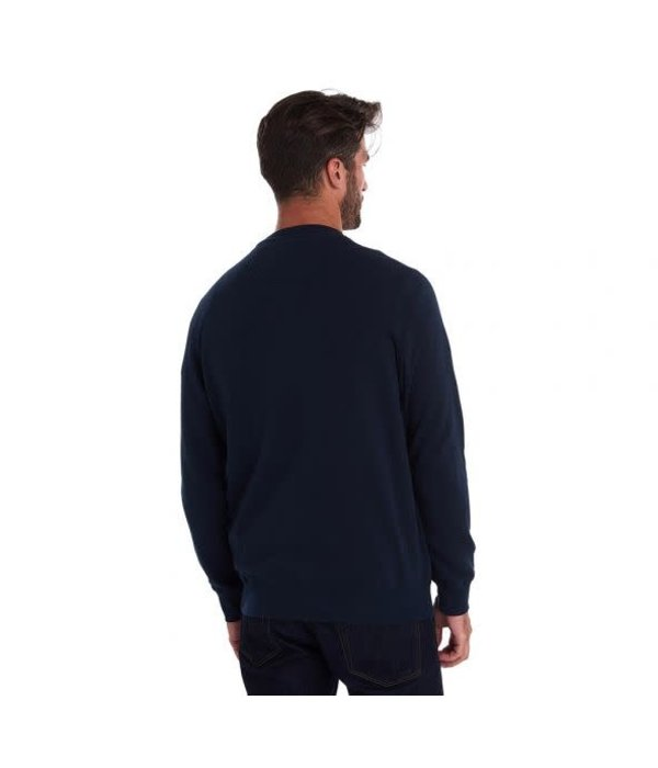 Barbour logo sweater d. blauw