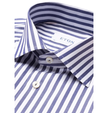 Eton streep dress-shirt blauw/wit