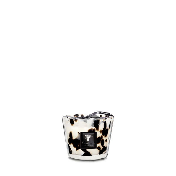 black pearls  candles 10cm