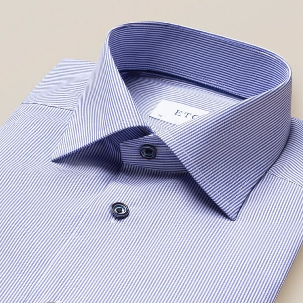 dress-shirt streep d. blauw