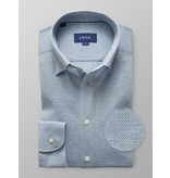 Eton tricot dress-shirt l. blauw