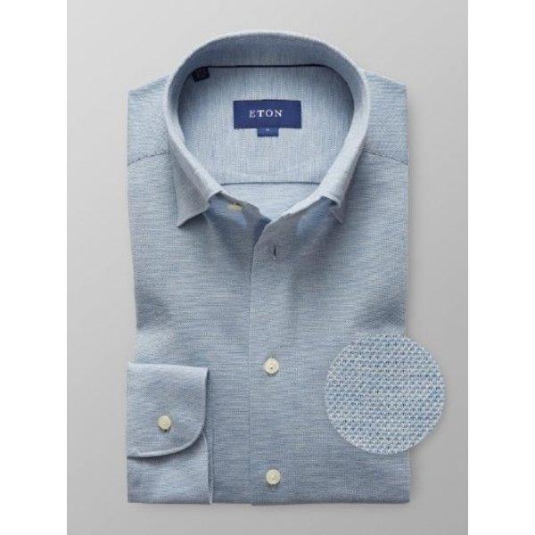 tricot dress-shirt l. blauw