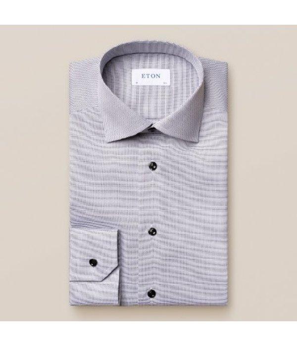 Eton dress-shirt wit blauw
