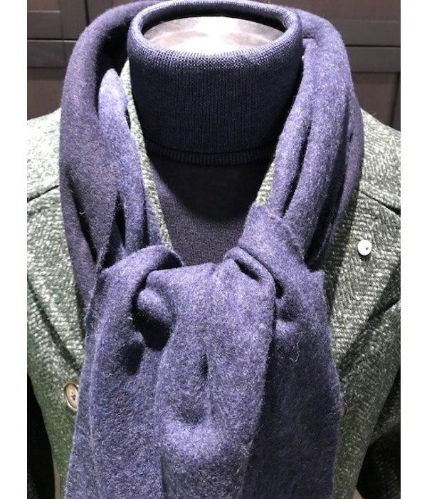 Eton sjaal wol grijs/bruin tweezijdig