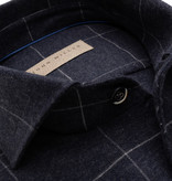 John Miller dress-shirt ruit antraciet tf
