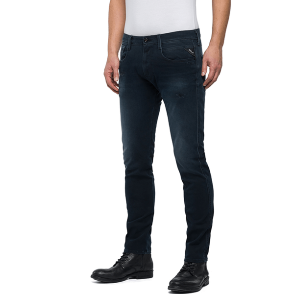 anbass jeans blue black