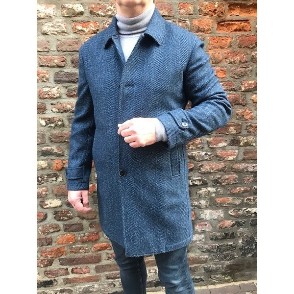 coat m. blauw