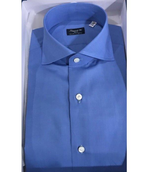 Finamore luxe dress-shirt napolitaans blauw