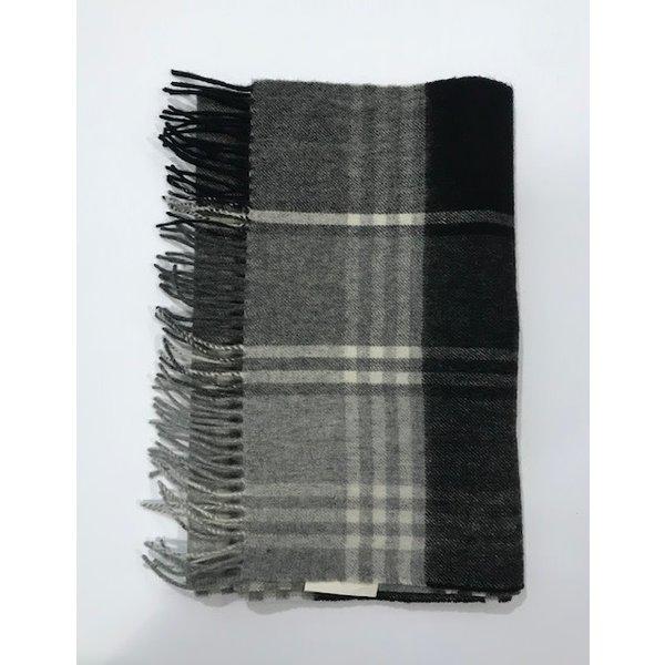 sjaal ruit grijs