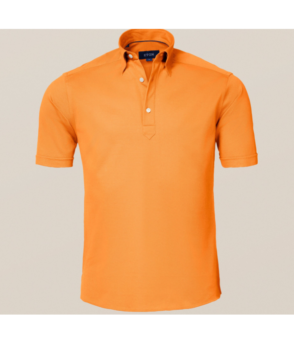 Eton polo-shirt oranje