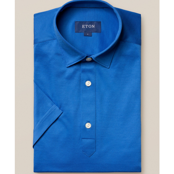 eton polo-shirt kobalt
