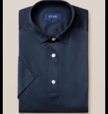 Eton eton polo-shirt d. blauw