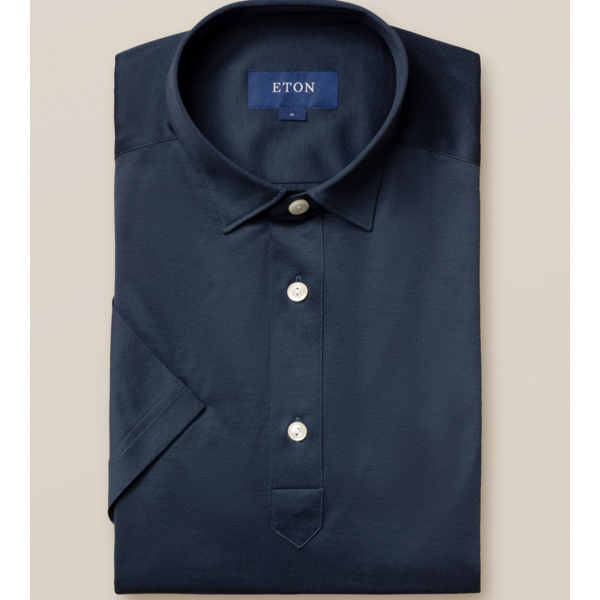 eton polo-shirt d. blauw