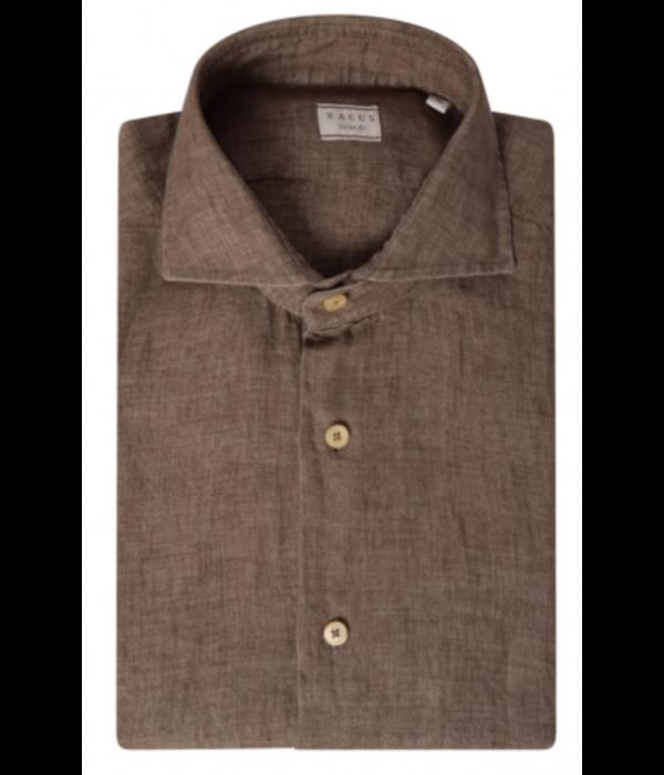 XACUS dress-shirt linnen bruin