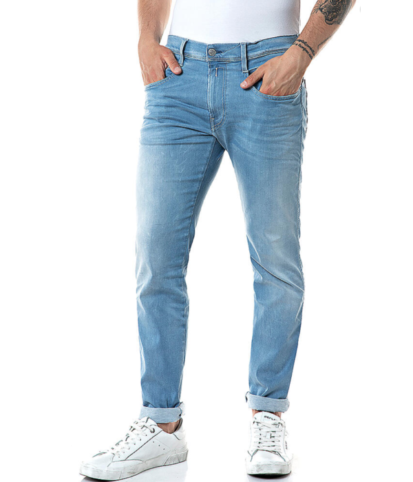 Replay anbass jeans l. blauw
