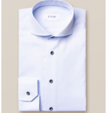 Eton dress-shirt l. blauw slimfit