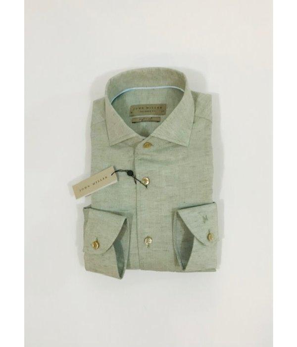 John Miller dress-shirt groen