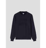 CP Company logo sweater d. blauw