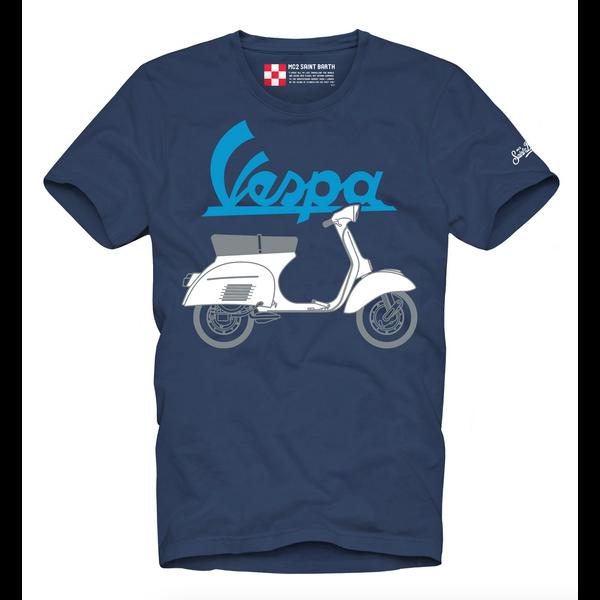 T-shirt Vespa blauw