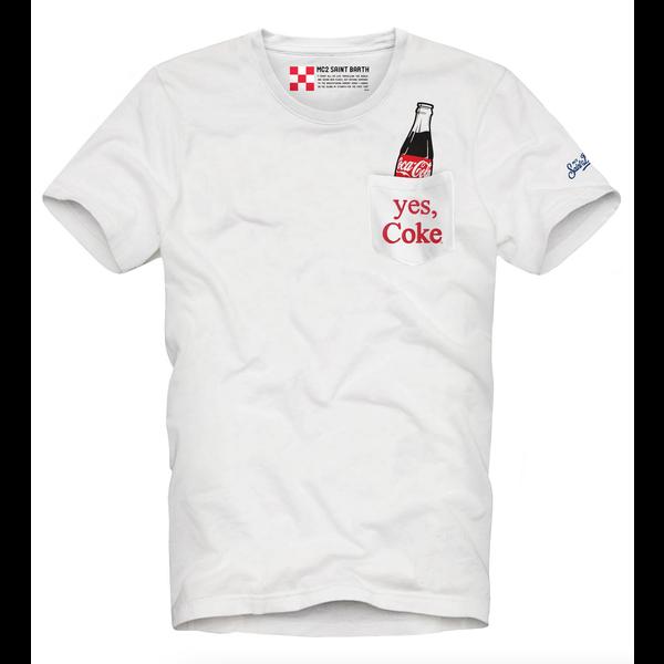 t-shirt coca cola d. blauw
