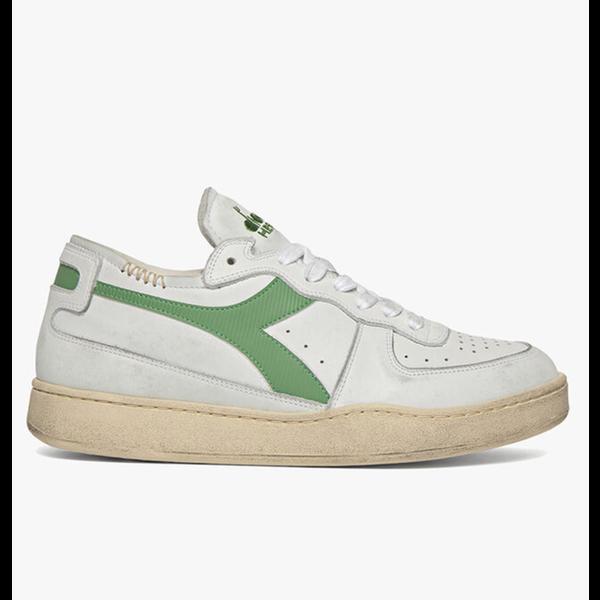 row cut sneaker wit/groen