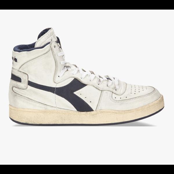 row cut sneaker blauw/wit