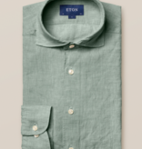 Eton linnen overhemd groen