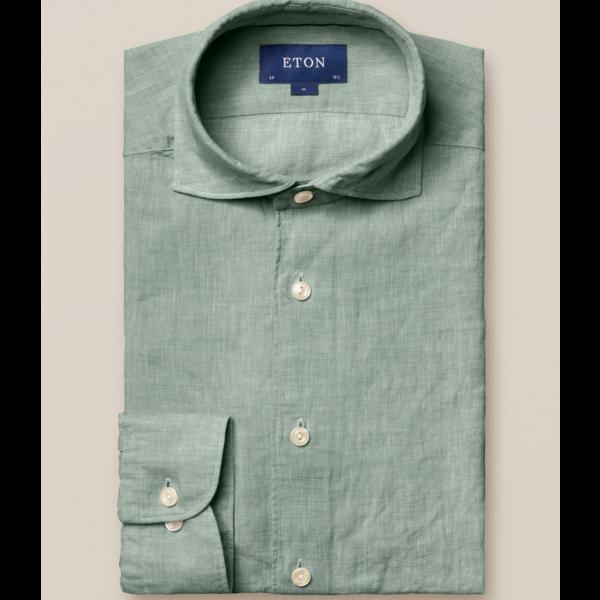 linnen overhemd groen