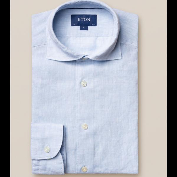 linnen overhemd l. blauw